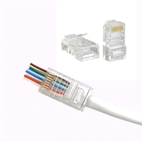 Modularstik RJ45<br>for rundt CAT6