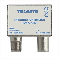 Teleste TV/DATA Push-On filter<br>5-65MHz returvej